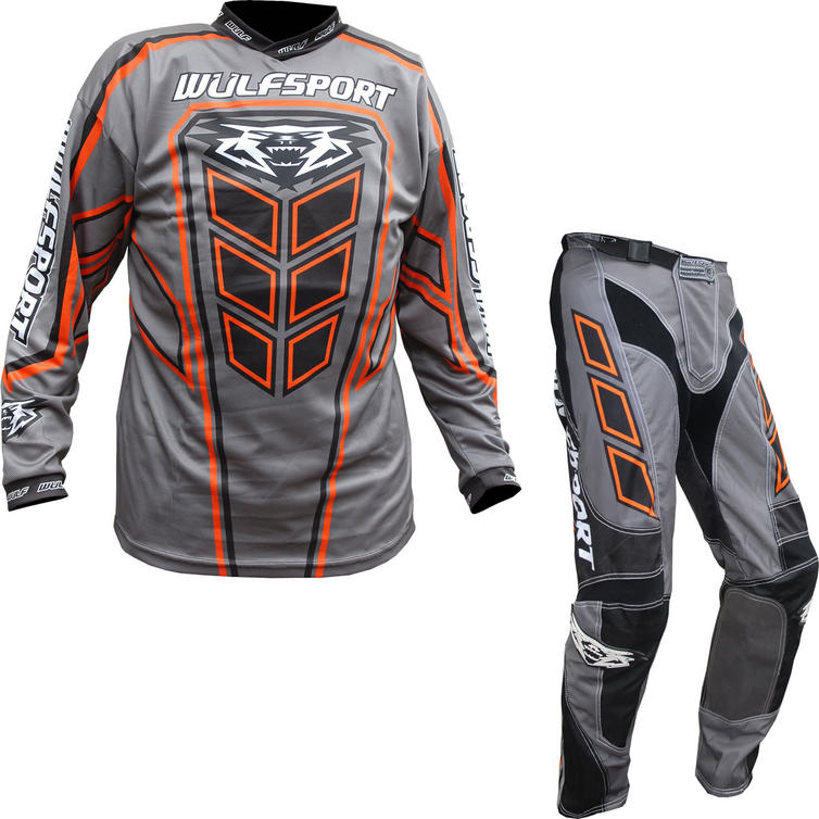 Wulf Axium Adult Motocross Jersey & Pants Orange Kit
