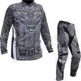 Wulf Aztec Adult Motocross Jersey & Pants Grey Kit