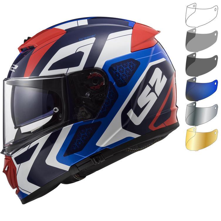 LS2 FF390 Breaker Android Motorcycle Helmet & FREE Visor