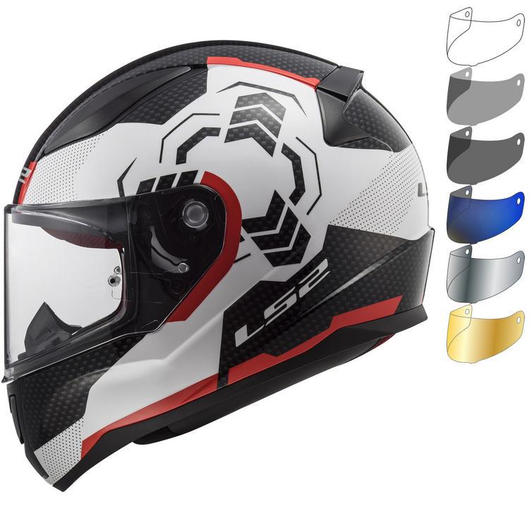 LS2 FF353 Rapid Ghost Motorcycle Helmet & Visor