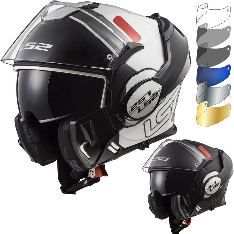 LS2 FF399 Valiant Prox Motorcycle Helmet & FREE Visor