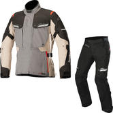 Alpinestars Bogota Drystar v2 Motorcycle Jacket & Trousers Grey Sand Black Kit