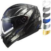 LS2 FF324 Metro Evo P-J Buzz Flip Front Motorcycle Helmet & FREE Visor
