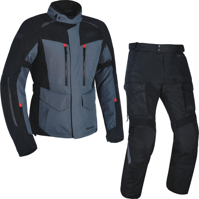 Oxford Continental Advanced Motorcycle Jacket & Trousers Tech Grey/Tech Black Kit