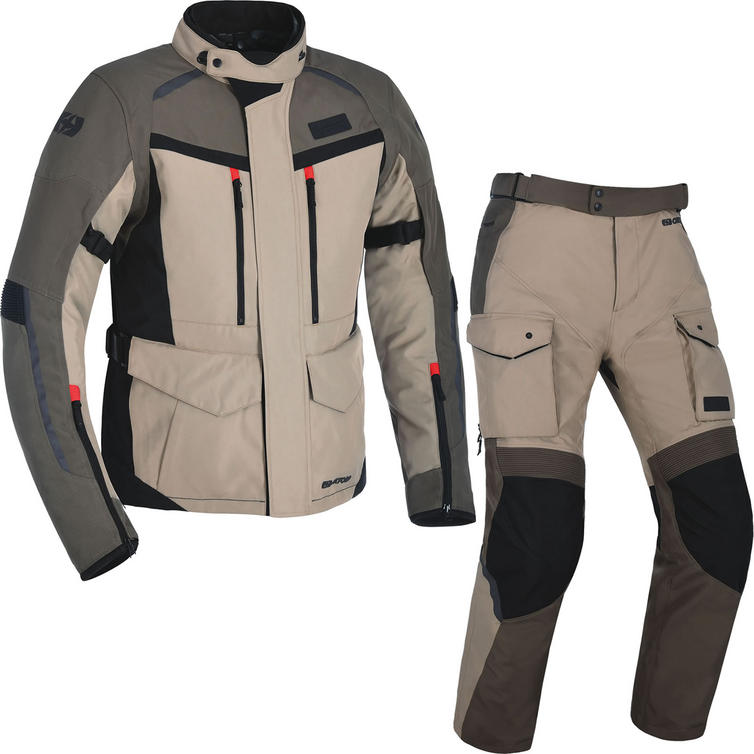 Oxford Continental Advanced Motorcycle Jacket & Trousers Desert Kit