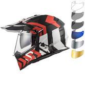 LS2 MX436 Pioneer Xtreme Dual Sport Helmet & FREE Visor