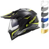 LS2 MX436 Pioneer Ring Dual Sport Helmet & FREE Visor