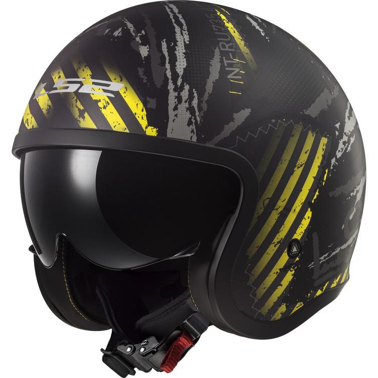 LS2 OF599 Spitfire Garage Open Face Motorcycle Helmet