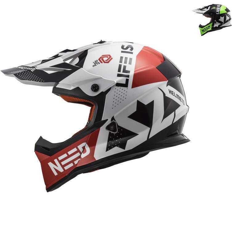 LS2 MX437 Fast Block Motocross Helmet