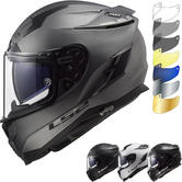 LS2 FF327 Challenger Solid Motorcycle Helmet & FREE Visor