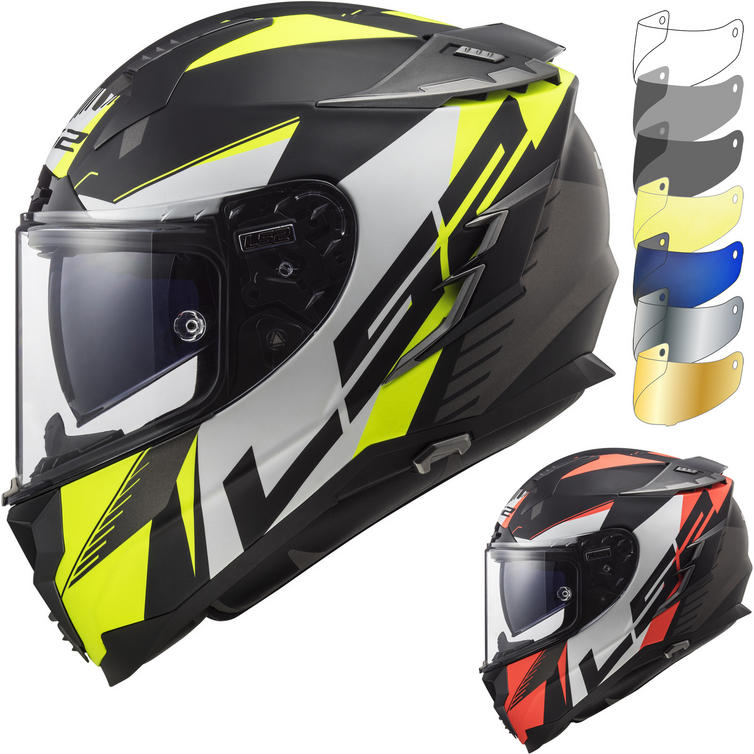 LS2 FF327 Challenger Squadron Motorcycle Helmet & FREE Visor