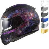 LS2 FF397 Vector HPFC Evo Cosmos Motorcycle Helmet & FREE Visor