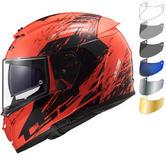 LS2 FF390 Breaker Swat Motorcycle Helmet & FREE Visor
