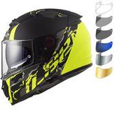 LS2 FF390 Breaker Feline Motorcycle Helmet & FREE Visor