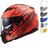 LS2 FF320 Stream Evo Lava Motorcycle Helmet & FREE Visor