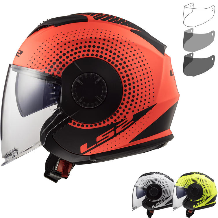 LS2 OF570 Verso Spin Open Face Motorcycle Helmet & FREE Visor