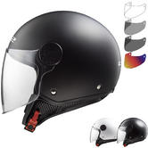 LS2 OF558 Sphere Solid Open Face Motorcycle Helmet & FREE Visor