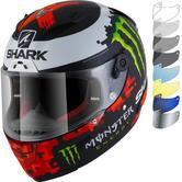 Shark Race-R Pro Lorenzo Monster Mat 2018 Replica Motorcycle Helmet & Visor