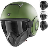 Shark Street-Drak Blank Open Face Motorcycle Helmet