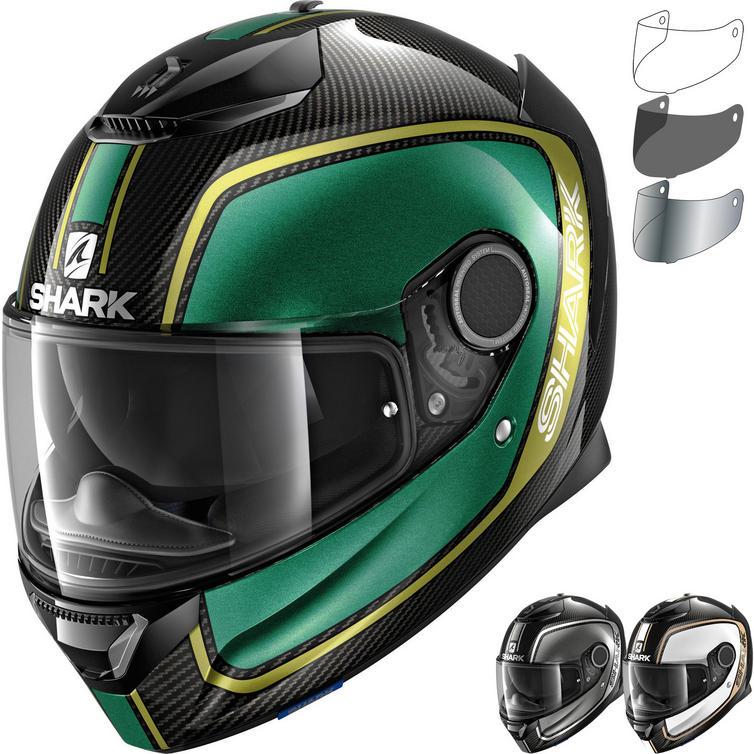 Shark Spartan Carbon Priona Motorcycle Helmet & Visor