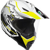 AGV AX-8 Dual Sport Evo Earth Motorcycle Helmet 3XL White Black Yellow