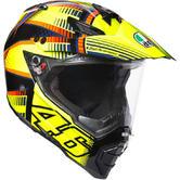 AGV AX-8 Dual Sport Evo Soleluna 2015 Motorcycle Helmet 2XS Black Yellow