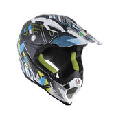 AGV AX-8 Evo Multi No Foot Motocross Helmet 3XL Matt White Cyan