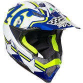 AGV AX-8 Evo E2205 Top Ranch Motocross Helmet 2XL White Blue Yellow