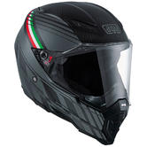 AGV AX-8 Naked Carbon Full Face Motorcycle Helmet 2XL Forest Carbon Grey Italy