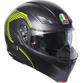 AGV Compact ST E2205 Multi Vermont Flip Up Front Motorcycle Helmet L Matt Black Yellow
