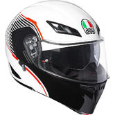 AGV Compact ST Vermont Flip Up Front Motorcycle Helmet XS White Black Red