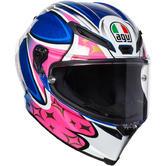 AGV Corsa R Jack 2017 Full Face Motorcycle Helmet XL Blue Pink White