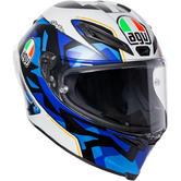 AGV Corsa R E2205 Replica Espargaro 2017 Full Face Motorcycle Helmet XL White Blue Black