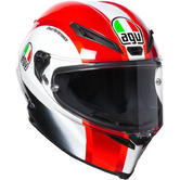 AGV Corsa R E2205 Replica Sic58 Full Face Motorcycle Helmet 2XL Black White Red