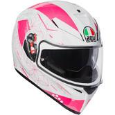 AGV K-3 SV Izumi Full Face Motorcycle Helmet L White Pink