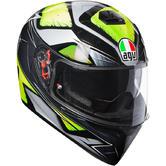 AGV K-3 SV Liquefy Full Face Motorcycle Helmet XL Grey Yellow