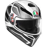 AGV K-3 SV Proton Full Face Motorcycle Helmet L Black Silver