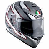 AGV K-3 SV E2205 Mizar Full Face Motorcycle Helmet ML Dark Grey White