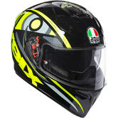 AGV K-3 SV Soluna 46 Full Face Motorcycle Helmet 2XL Black Grey Yellow