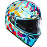 AGV K-3 SV E2205 Top Misano 2014 Full Face Motorcycle Helmet 2XL Multi