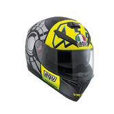 AGV K-3 SV Winter Test 2012 Full Face Motorcycle Helmet XS Black Grey Yellow