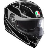 AGV K-5 S Magnitude Full Face Motorcycle Helmet XL Black Silver