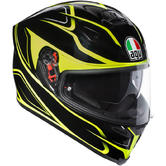 AGV K-5 S Magnitude Full Face Motorcycle Helmet 2XL Black Yellow