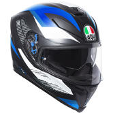 AGV K-5 S Marble Full Face Motorcycle Helmet XL Matt Black White Blue