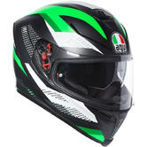 AGV K-5 S Marble Full Face Motorcycle Helmet L Matt Black White Green