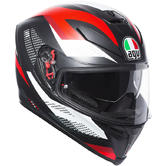 AGV K-5 S Marble Full Face Motorcycle Helmet ML Matt Black White Red