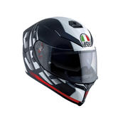 AGV K-5 S Dark Storm Full Face Motorcycle Helmet 2XL Matt Black Red
