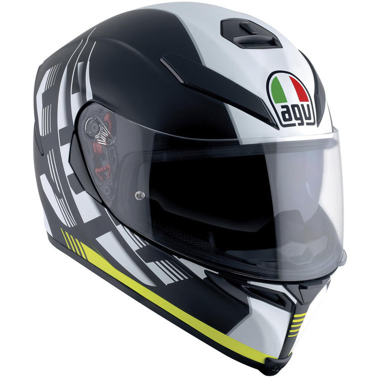 AGV K-5 S E2205 Multi Dark Storm Full Face Motorcycle Helmet XS Matt Black Yellow