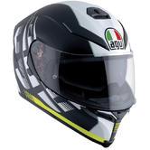 AGV K-5 S E2205 Multi Dark Storm Full Face Motorcycle Helmet XS Matt Black Yellow