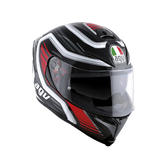 AGV K-5 S Fire Race Full Face Motorcycle Helmet S Black Red